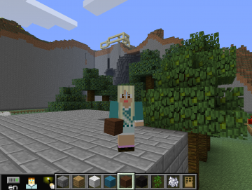 The interface for MinecraftEdu, a custom educational release of the hit video game Minecraft