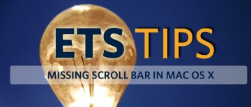 Missing Scroll Bar in macOS
